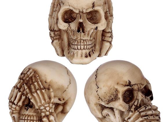 Speak no Hear no See no Evil skulls (set 3)