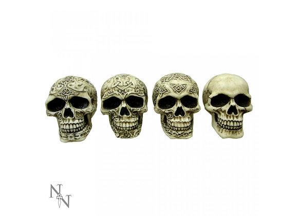 Smiles skulls set of 4 (9,5 cm)