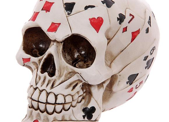 Dead Mans Hand Skull (14 cm)