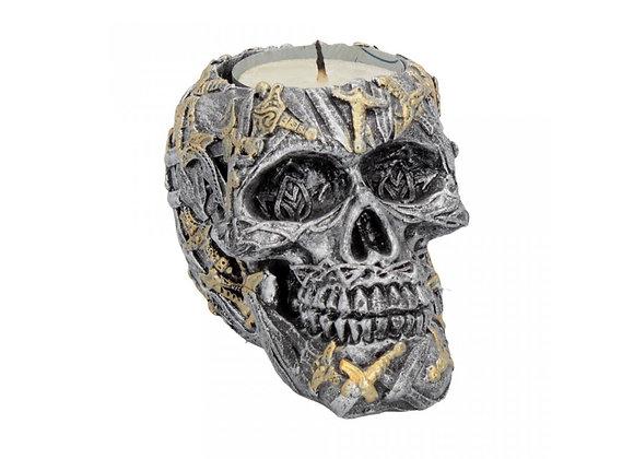 Cranial Blade skull tealight-holder (9cm)