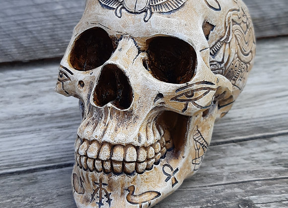 Hieroglyphic Skull (15cm)