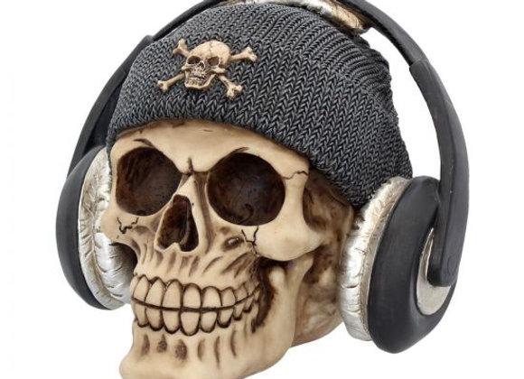 Dead Beat Beanie Grey skull (16cm)