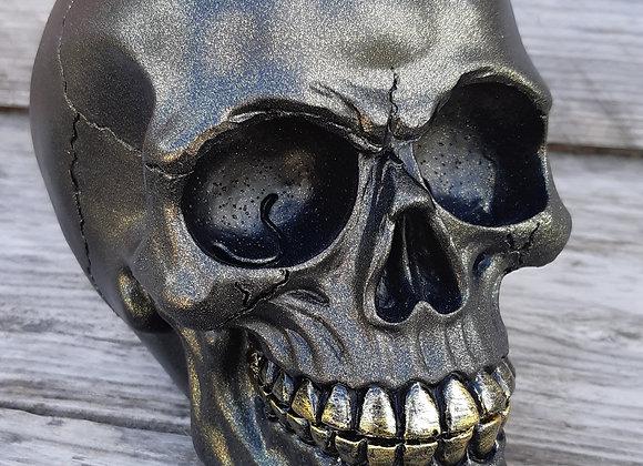 Metallic Black Skull (12 cm)
