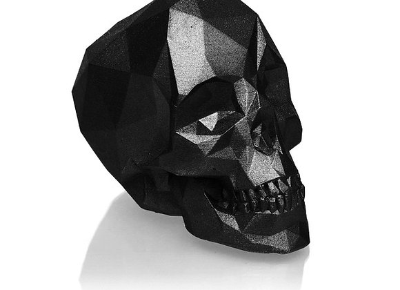 Zwart Metallic Skull Kaars (12cm)