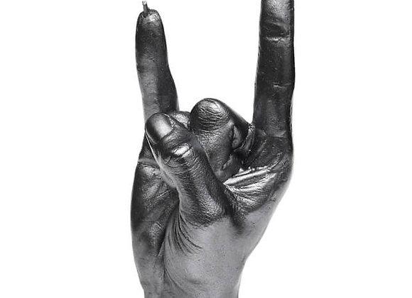 Hand RCK Staalkleur Kaars (19cm)