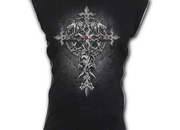 CUSTODIAN - Zip Side Ribbed Gothic Sleeveless