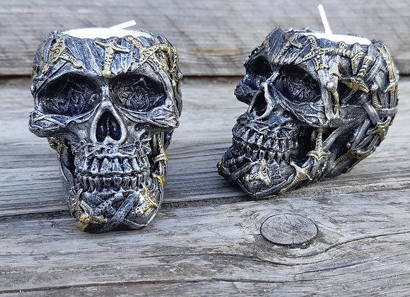 Cranial Blade skull tealight-holder (10cm)