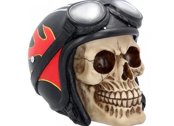 Hell Fire Biker Skull (15 cm)