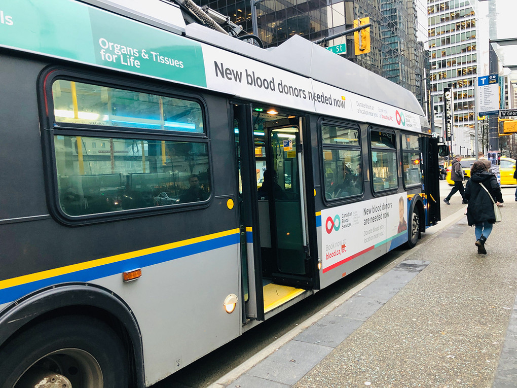 Vancouver Bus Campaign · New Blood Donors Needed