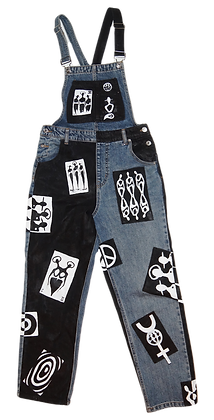 S - The Cool People Playing Cards Denim Overalls
