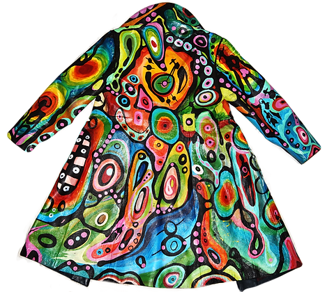 Radical Radiation Painted Vintage Jacket