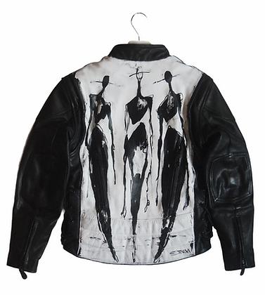 M - The Cool People II (11.2020) Painted Vintage Leather Jacket