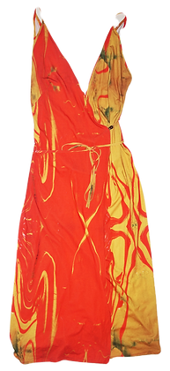 S/M - Tequila Sunrise Wrap Dress