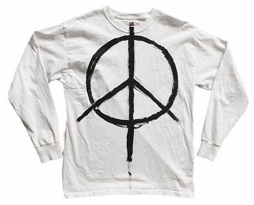 Double Peace Painted T-Shirt