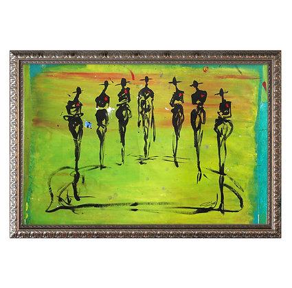 """Greens Goods"" Framed Painting"