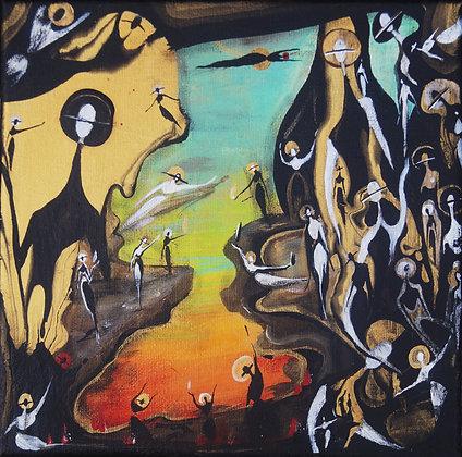 """""""Morning Masquerade"""" Canvas (8x8"""")"""