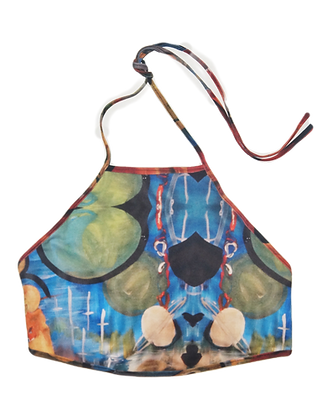 One Size - Surrealist Garden Reversible Halter