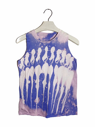 S - Lavender Cool People Bleached Tank