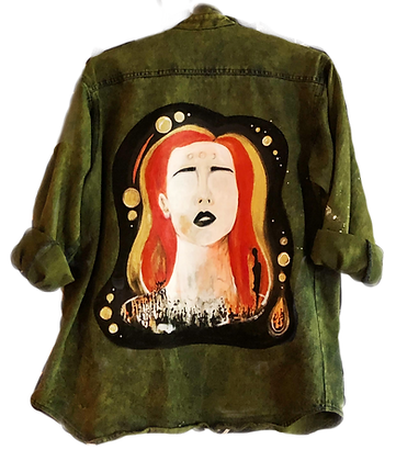 In Blind Sight Painted Button-Up Jacket