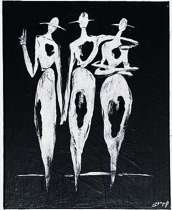 """""""Peace Trio"""" Canvas (16X20)"""