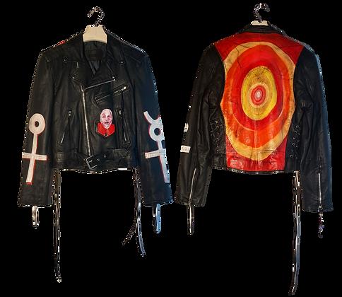 Mercury Woman Painted Vintage Leather Jacket