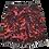 Thumbnail: S - Bright Pink Splatter Jean Skirt