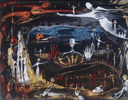 """Radicals Rattle"" - Acrylic on Canvas (11x14"")"