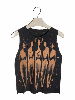 S - The Cool People Classic Bleached & Cut Tank