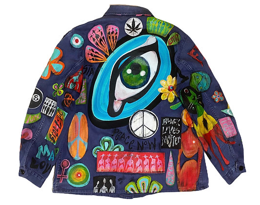 Eye Of The Beholder Patched Vintage Barn Jacket