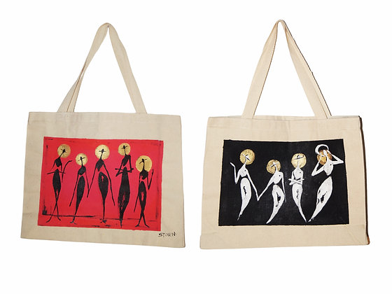 Jekyll & Hyde - TCP - 2x Painted Canvas Tote