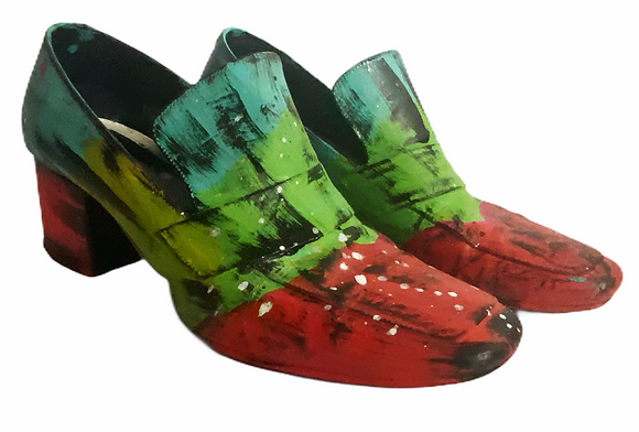 Victorian Juicy Mod Color Blocked Leather Shoes