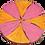 Thumbnail: Pinwheel Pink/Orange Painted Military Cap