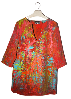 XS - Painted Palette Smock Dress
