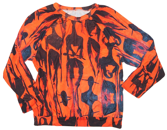 The Cool People (Tangerine) Long Sleeve T-Shirt