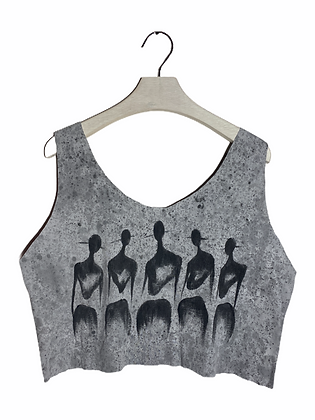 M/L - The Cool People Ribbed Painted & Cut Tank