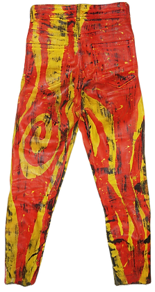 Tequila Sunrise Painted Jeans