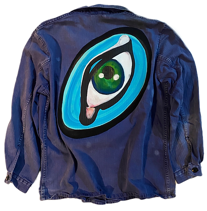 Eye Of The Beholder Painted Vintage Barn Jacket