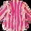 Thumbnail: S - Pink/Orange Candy Striper Open Blouse