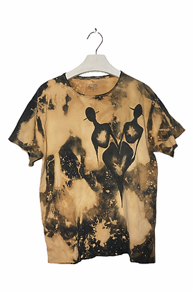 M - Cloned Painted & Bleached T-Shirt