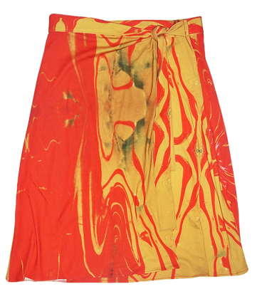 M - Tequila Sunrise Wrap Skirt