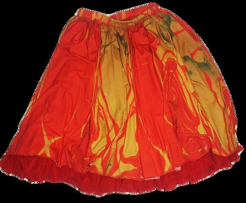 S - Tequila Sunrise Ruffled Skirt