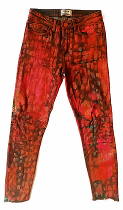 XS/24 - Layered Painted Acne Jeans