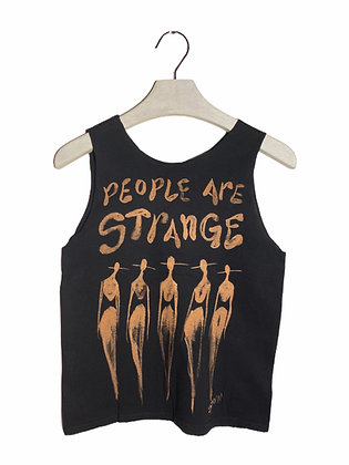 S - People Are Strange Bleached & Cut Tank