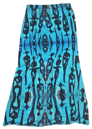 The Cool People Electric Blue Maxi Skirt