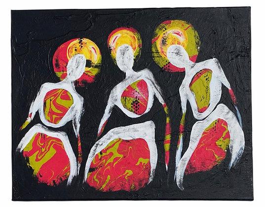 """""""Trippy Trio"""" Canvas (16x20)"""