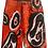 Thumbnail: XS/24 - Red Polka Paint High Waisted Cut Off Jean Shorts