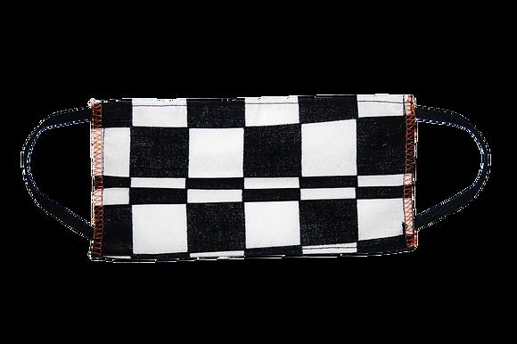 Checkerboard Woven Single Mask