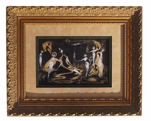 """""""Night Shift"""" - Framed Canvas (12x15"""")"""