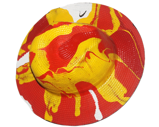 Tequila Sunrise Drip Painted Weave Hat