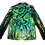Thumbnail: Psychedelic Greens Leather Blazer Jacket